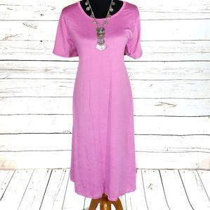 Pretty Bubblegum Pink LuLaRoe Jessie Dress 2XL